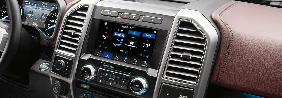 Ford SYNC 3 infotainment system close-up view