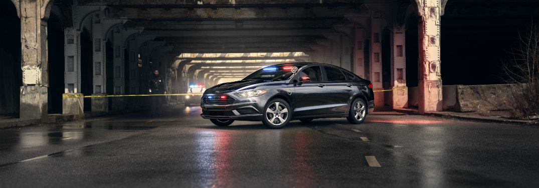 Ford Special Service Plug-In Hybrid Sedan far shot exterior front