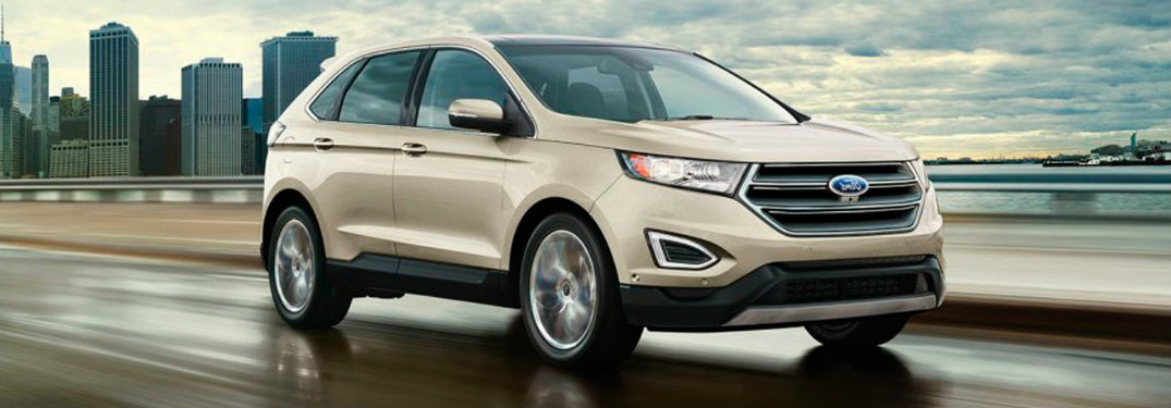 2017 Ford Edge front exterior on road