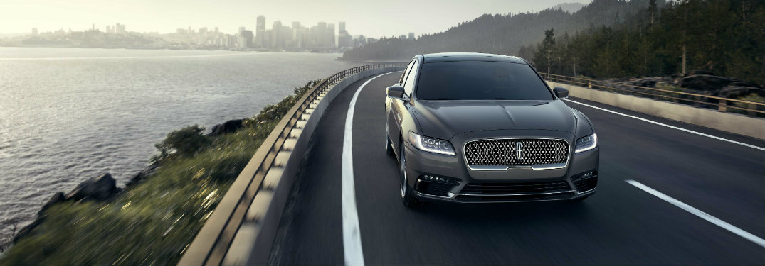2017 Lincoln Continental front view on highway