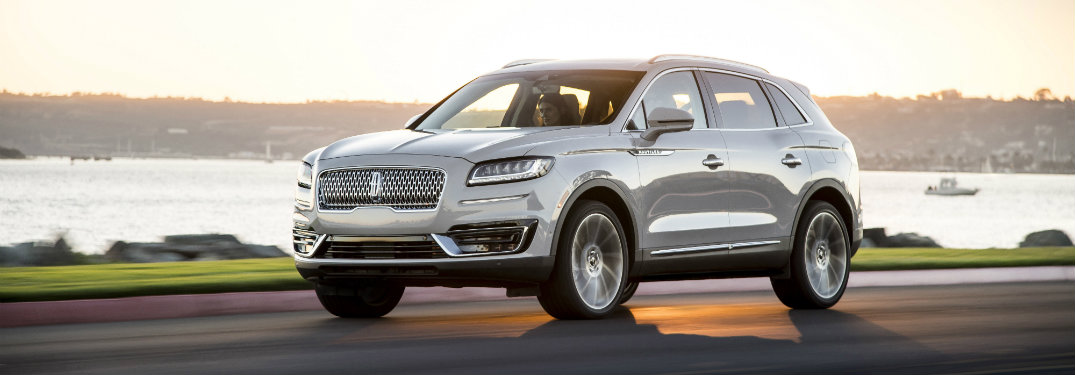 2019 Lincoln Nautilus exterior front white on road