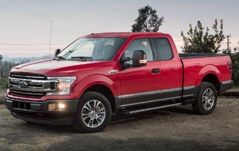 2018 Ford F-150 side red exterior