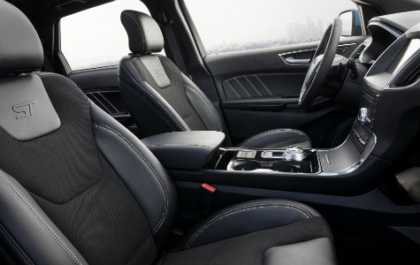 2019 Ford Edge ST interior front seats