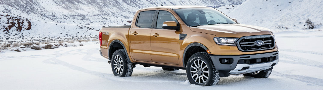 2019 Ford Ranger exterior front on snow