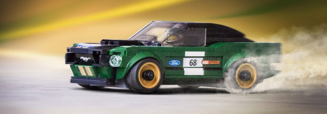 Build a vintage Ford Mustang by hand with a LEGO Speed Champions Kit