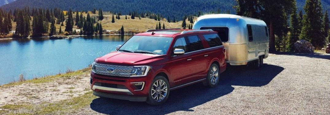 2018 Ford Expedition towing a RV trailer