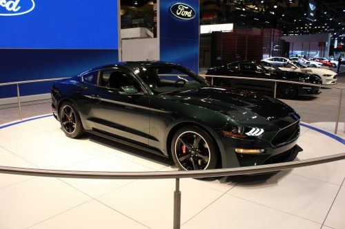 2019 Ford Mustang Bullitt side profile at the Chicago Auto Show