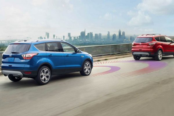 Adaptive Cruise Control example on the 2018 Ford Escape following another vehicle
