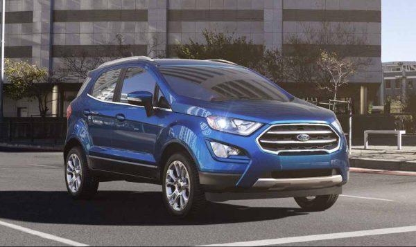 2018 Ford EcoSport in Lightning Blue