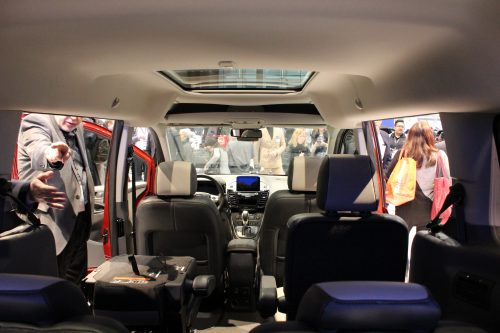 Interior space on the 2019 Ford Transit Connect Wagon at the Chicago Auto Show