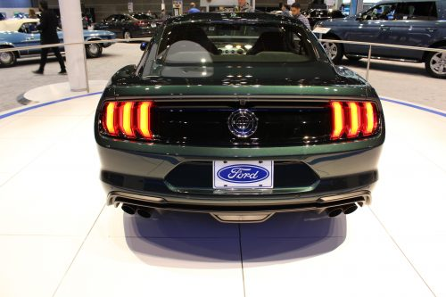 Rear badging on the 2019 Ford Mustang Bullitt at the Chicago Auto Show