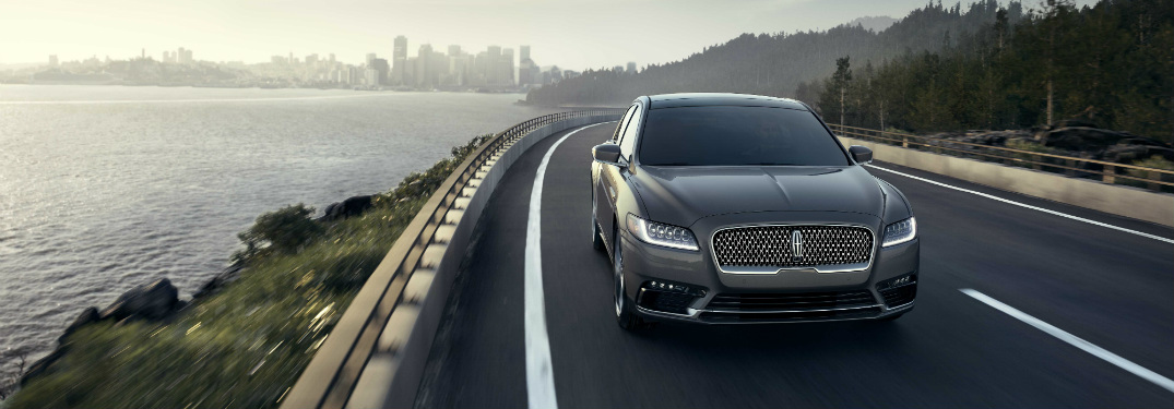 front view of gray 2018 lincoln continental