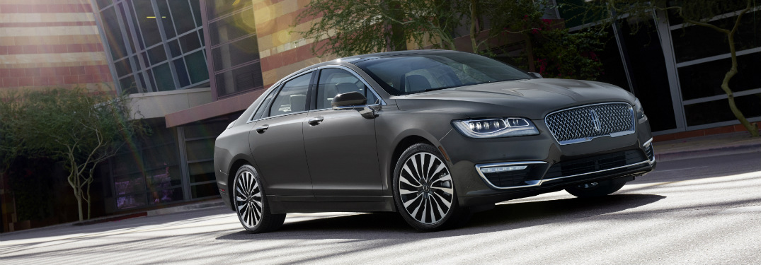 front and side view of gray 2019 lincoln mkz