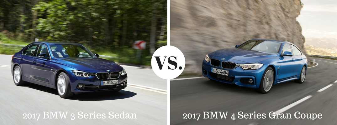 2017 BMW 3 Series Sedan vs BMW 4 Series Gran Coupe