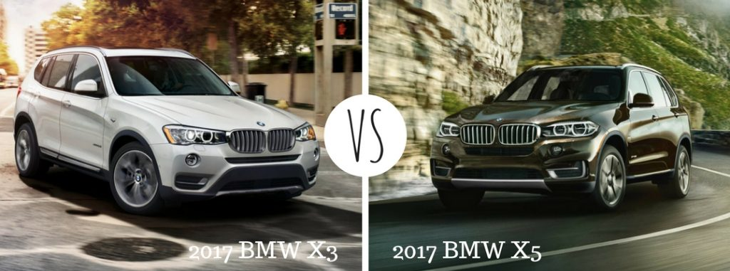 2017 bmw x3 vs 2017 bmw x5. Black Bedroom Furniture Sets. Home Design Ideas