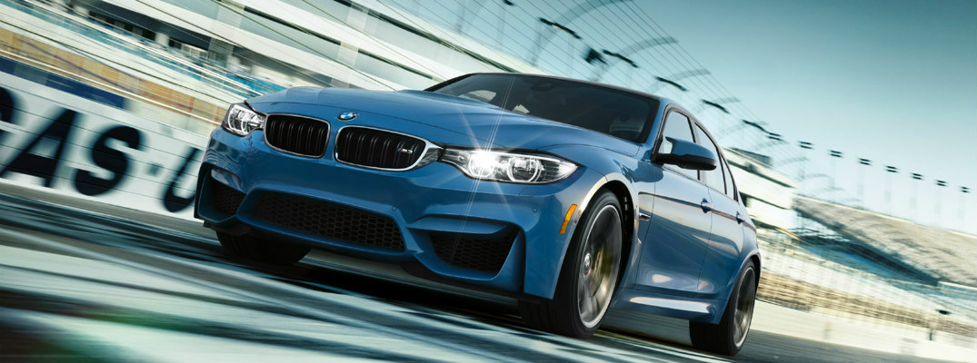 2017 BMW M3 on the track