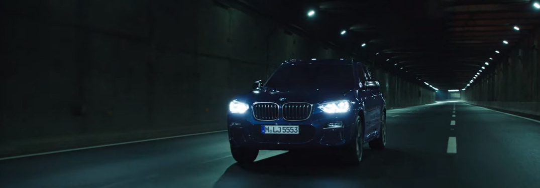2018 BMW X3 driving at night