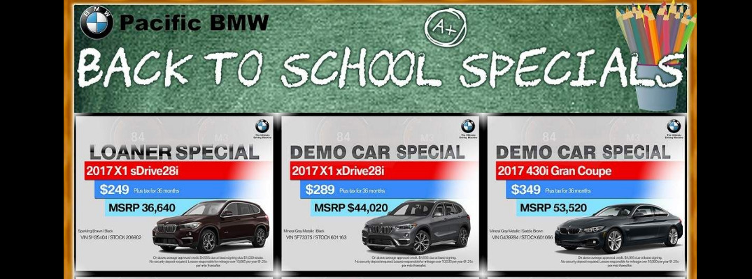 2017 BMW Back to School Specials Glendale CA
