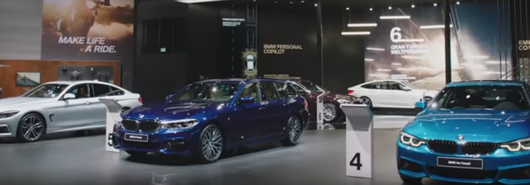 What cars did BMW have on display at 2017 IAA auto show?