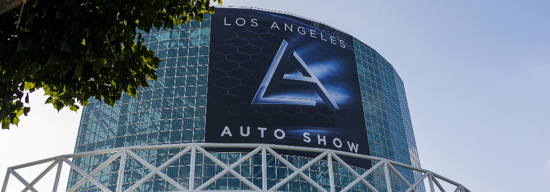 Los Angeles Auto Show Banner Hanging on LA Convention Center