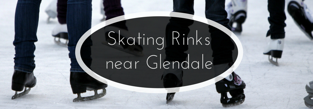Skating Rinks near Glendale Title and People Ice Skating