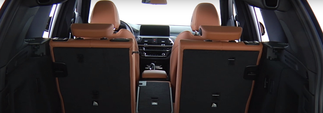 Brown Rear Seats of 2018 BMW X3