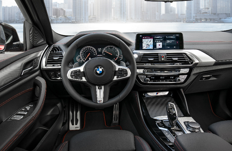 Dashboard And Black Front Seats Of 2019 Bmw X4 O Pacific Bmw