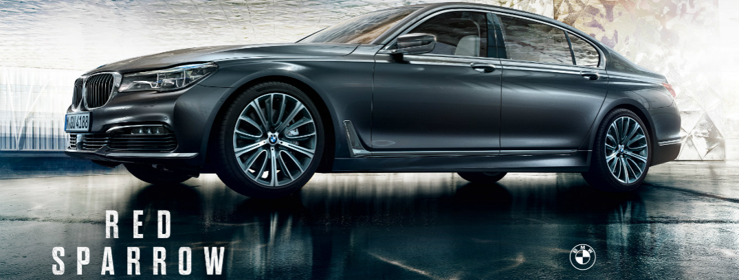 Red Sparrow Title and Grey 2018 BMW 7 Series