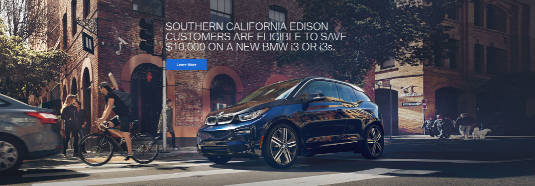 SCE Discount Offer for BMW i3 Title and Black BMW i3