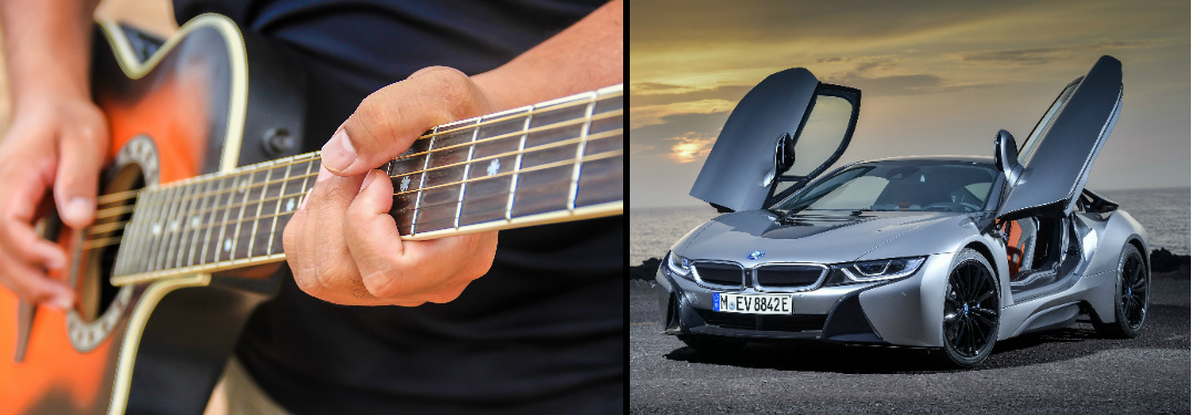 Acoustic Guitar and 2018 BMW i8