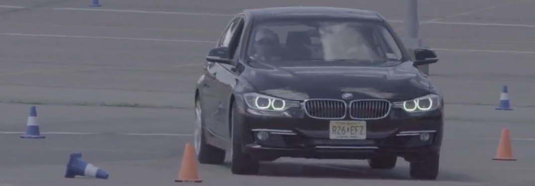 Black BMW Sedan Driving at the BMW Ultimate Driving Experience
