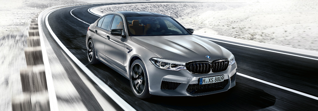 What is the top speed of the 2019 BMW M5 Competition Sedan?