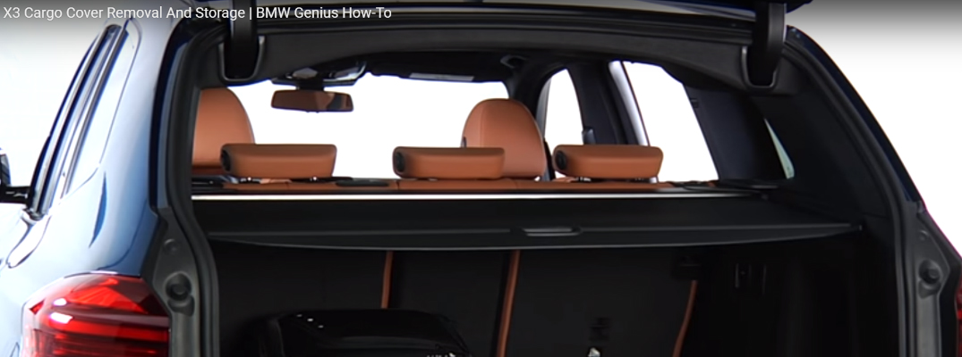Cargo Cover and Luggage in a BMW X3