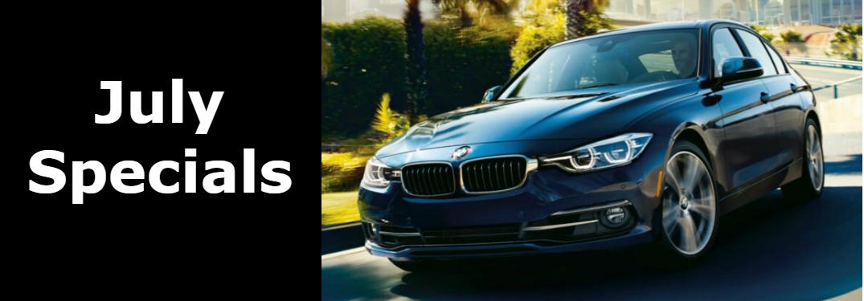 July Specials Title and Dark Blue 2018 BMW 3 Series
