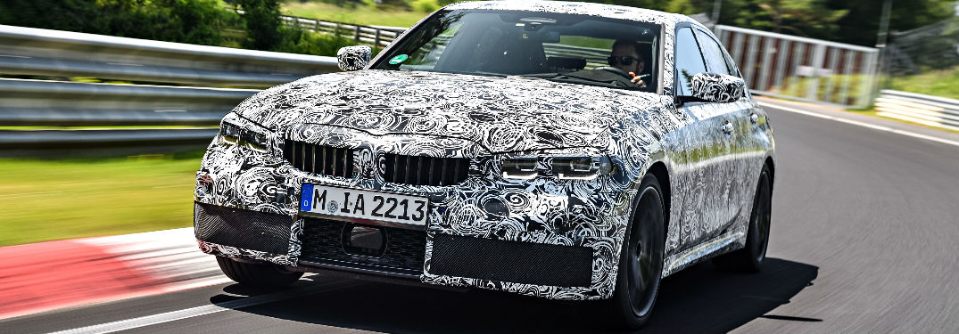 Front View of 2019 BMW 3 Series Doing Driving Tests at Nürburgring Nordschleife