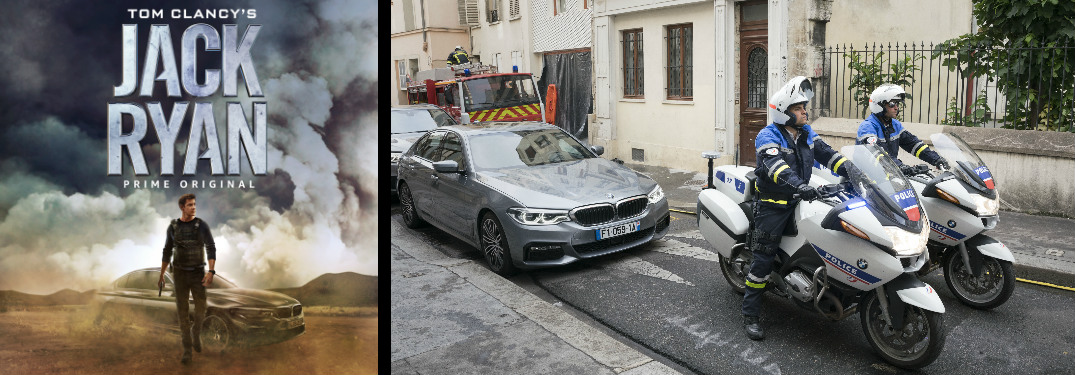 Jack Ryan Movie Poster and Scene from the Jack Ryan Movie with the BMW 5 Series