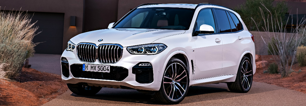 White 2019 BMW X5 Parked in Front of a House