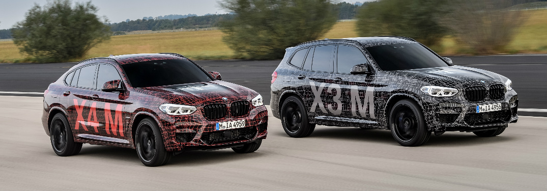 Prototypes of BMW X3 M and BMW X4 M at Nürburgring Race Track