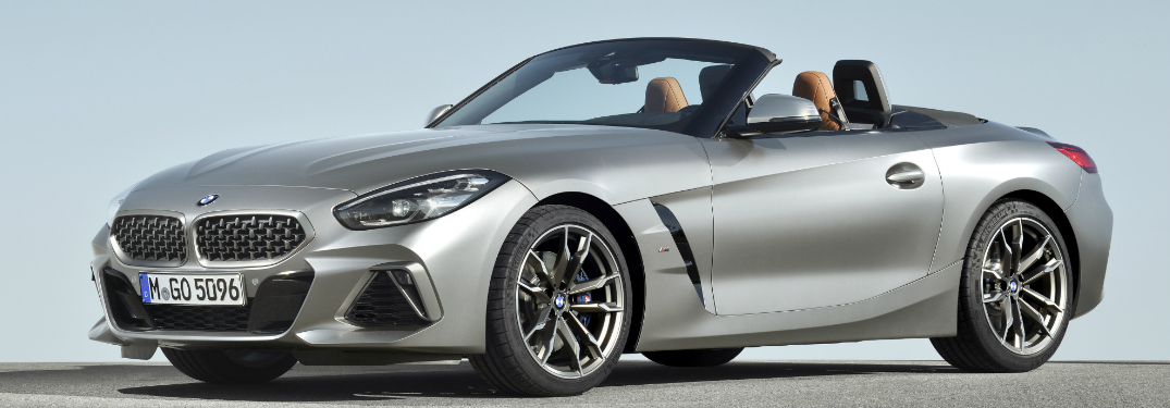 Side View of Silver 2019 BMW Z4 Roadster
