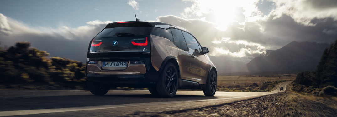 Brown 2019 BMW i3 with the Sunset in the Background