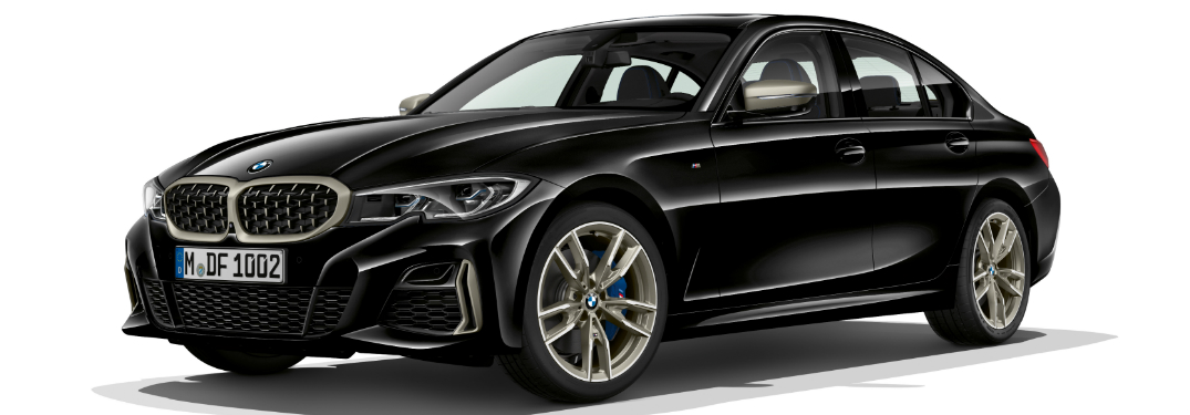 Front view of black 2020 BMW M340i