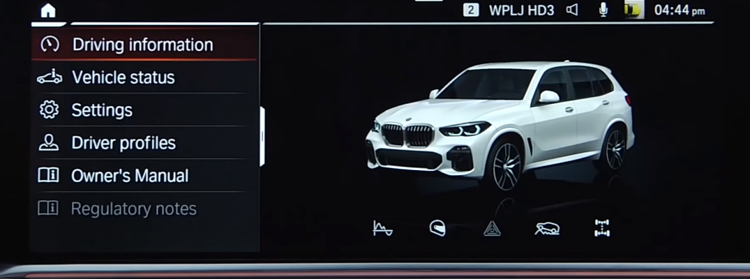 Demonstration of the customization options for the BMW iDrive 7 operating system
