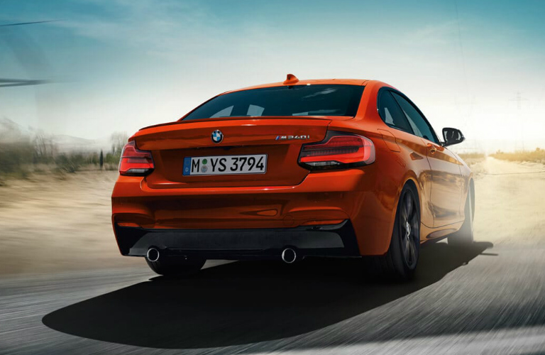 Rear view of red 2019 BMW 2 Series
