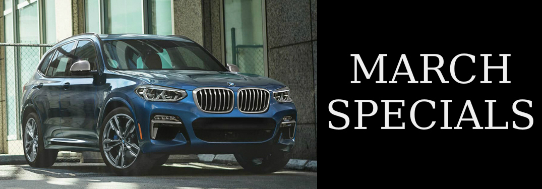 March Specials title and a blue 2019 BMW X3