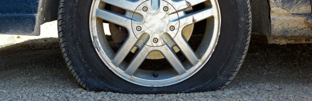 flat tire on an unmarked vehicle