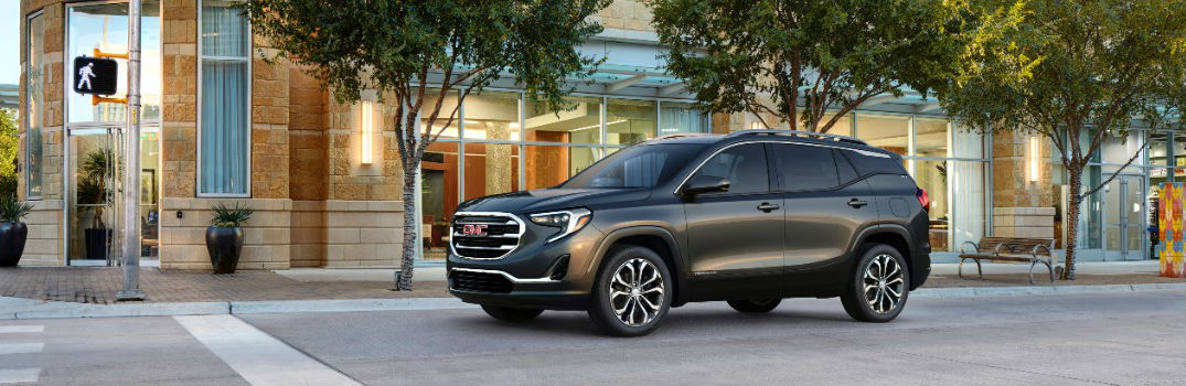 2018 GMC Terrain parked downtown in a city