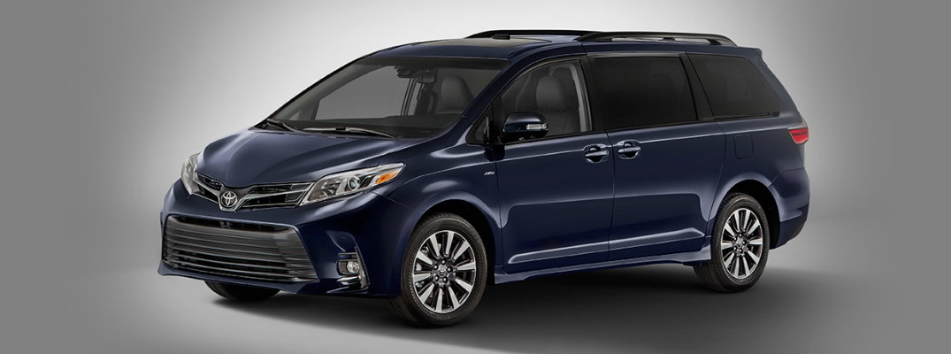 2018 Toyota Sienna with gray background