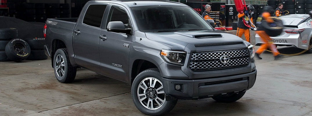Gray-colored 2018 Toyota Tundra parked at a construction site