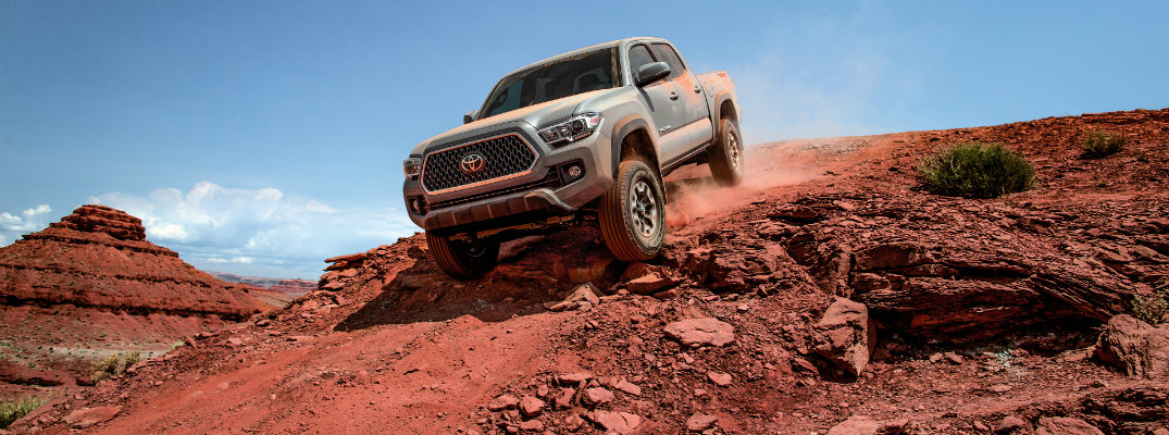 2018 Toyota Tacoma off-roading in the western United States