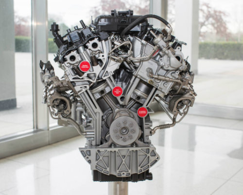 Ford EcoBoost engine on display